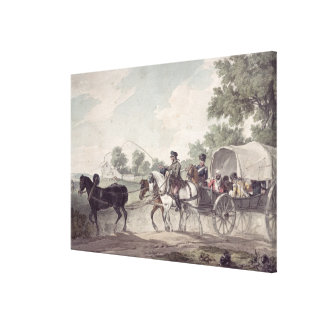 Belgian Wagon conveying Wounded from the Field Canvas Print