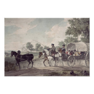 Belgian Wagon conveying Wounded from the Field Poster
