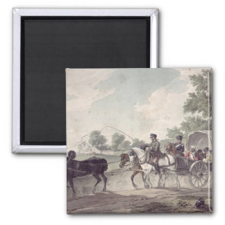 Belgian Wagon conveying Wounded from the Field Square Magnet
