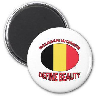 belgian women designs fridge magnet