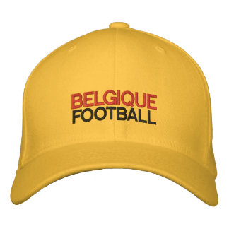 BELGIQUE FOOTBALL EMBROIDERED HAT