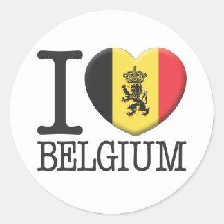 Belgium2 Classic Round Sticker