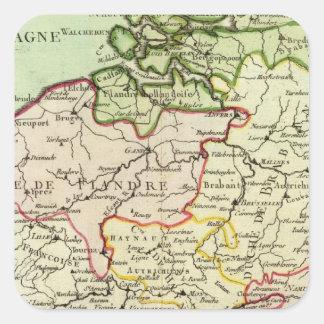 Belgium 3 square sticker