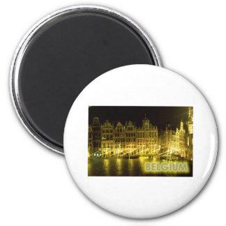 Belgium 6 Cm Round Magnet