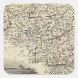 Belgium 6 square sticker