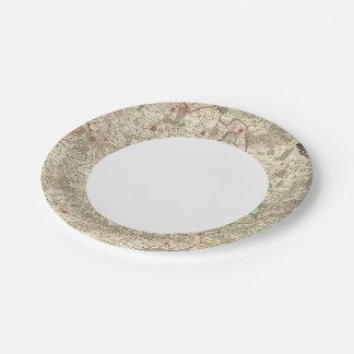 Belgium and Europe Paper Plate