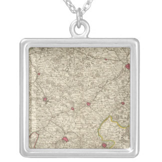 Belgium and France 2 Silver Plated Necklace