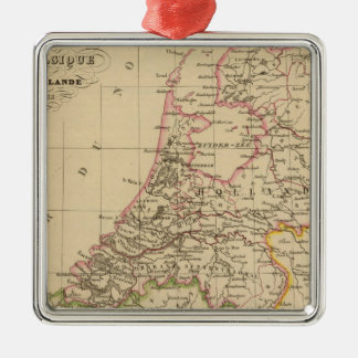 Belgium and Holland, 1812 Silver-Colored Square Decoration