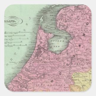 Belgium And Holland Square Sticker