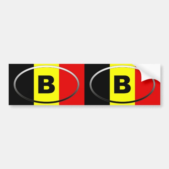 Belgium - B - European oval Bumper Sticker