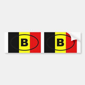 Belgium - B - European oval Bumper Sticker