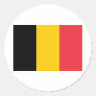 Belgium BE Classic Round Sticker