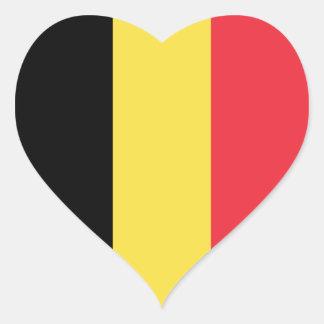 Belgium/Belgian Flag Heart Sticker