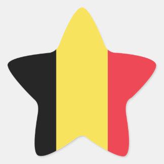 Belgium/Belgian Flag Star Sticker