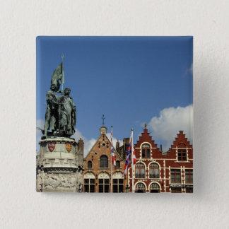 Belgium, Brugge (aka Brug or Bruge). UNESCO 15 Cm Square Badge