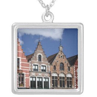 Belgium, Brugge (aka Brug or Bruge). UNESCO 2 Silver Plated Necklace