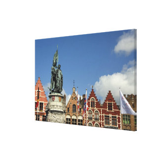 Belgium, Brugge (aka Brug or Bruge). UNESCO Canvas Print