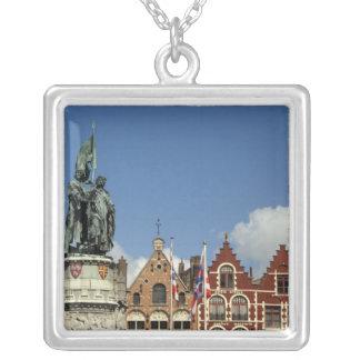 Belgium, Brugge (aka Brug or Bruge). UNESCO Silver Plated Necklace