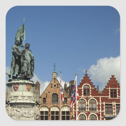 Belgium, Brugge (aka Brug or Bruge). UNESCO Sticker