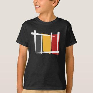 Belgium Brush Flag T-Shirt