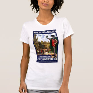 Belgium Brussels Vintage Fair Poster Restored T-Shirt