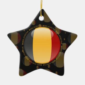Belgium Bubble Flag Ceramic Star Decoration