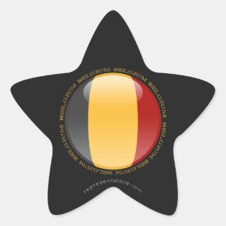 Belgium Bubble Flag Star Sticker