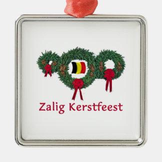 Belgium Christmas 2 Silver-Colored Square Decoration