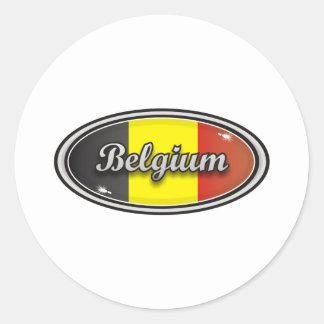 Belgium Classic Round Sticker
