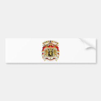 Belgium Coat of Arms Car Bumper Sticker