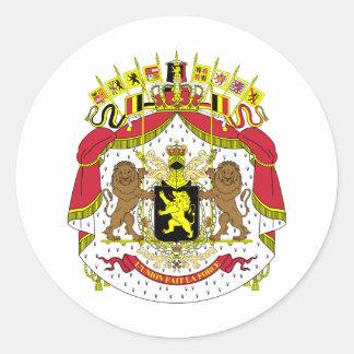 Belgium Coat of Arms Round Sticker
