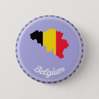 Belgium country 6 cm round badge