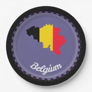 Belgium country paper plate