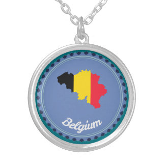 Belgium country silver plated necklace