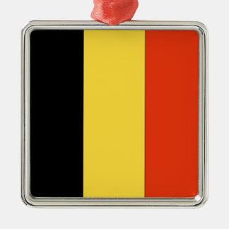 Belgium Silver-Colored Square Decoration