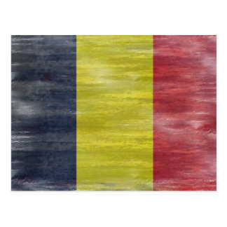 Belgium distressed flag postcard
