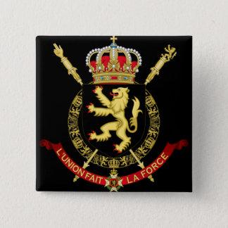 belgium emblem 15 cm square badge