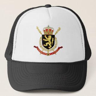 belgium emblem trucker hat