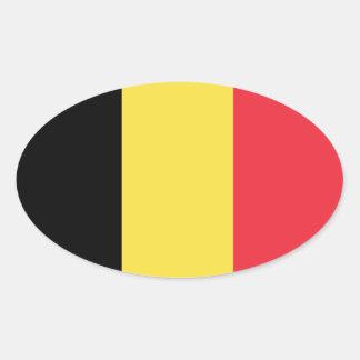 Belgium* Euro-Style Oval Flag Oval Sticker