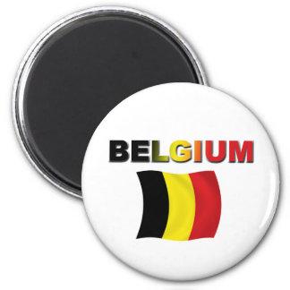 Belgium Flag 6 Cm Round Magnet