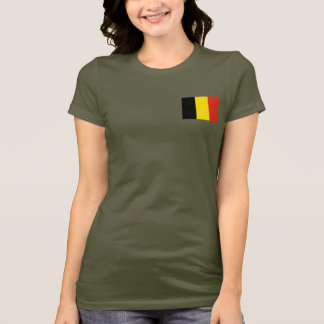 Belgium Flag and Map dk T-Shirt