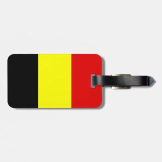 Belgium flag bag tag