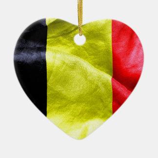 Belgium Flag Ceramic Heart Decoration