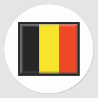 Belgium Flag Classic Round Sticker