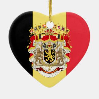Belgium Flag & COA Christmas Tree Ornament