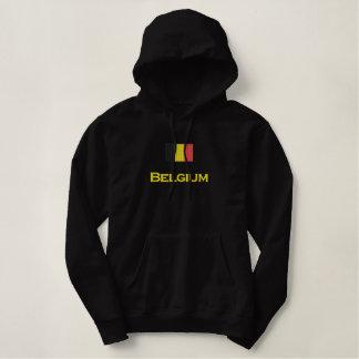 Belgium Flag Embroidered Hoodie