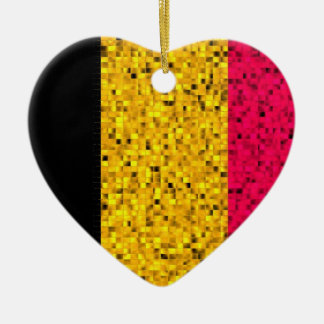 Belgium Flag glitter ornament