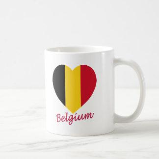 Belgium Flag Heart Coffee Mug