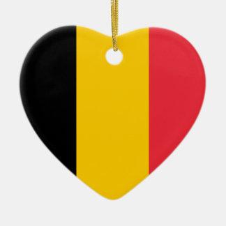 Belgium Flag Heart Ornament