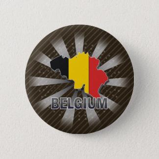 Belgium Flag Map 2.0 6 Cm Round Badge